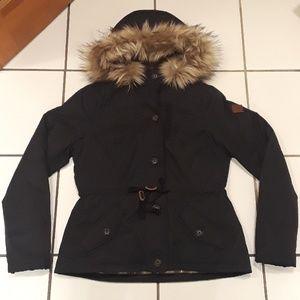 Large Hollister Stretch Flannel Lined Jacket